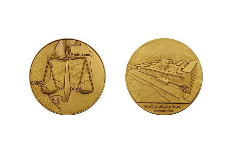 Médaille de l'inauguration du Palais de Justice de Dakar, 1958